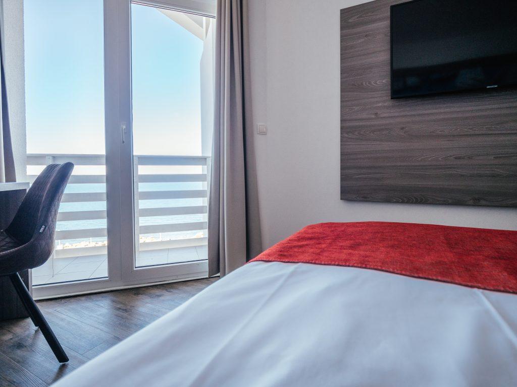 Dvoposteljna soba pogled morje